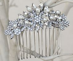 Hair Comes the Bride - Petite Rhinestone Bridal Hair Comb ~ Rohanna, $36.00 (http://www.haircomesthebride.com/petite-rhinestone-bridal-hair-comb-rohanna/)