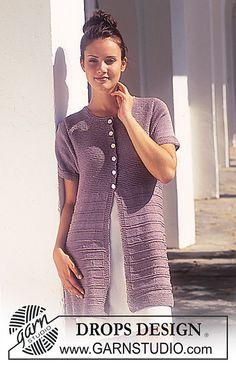 Ravelry: 50-15 Short Sleeved Cardigan in Muskat pattern by DROPS design
