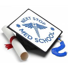 Info You got accepted and your on your way to medical school. Way to go and congratulations. Make you and your family proud by showing off with this decorated grad cap by Tassel Toppers. About A Tasse