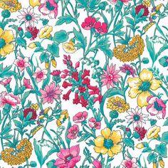 Liberty fabric - print Rachel B, a beautiful floral design