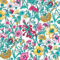 Liberty fabric - print Rachel B, a beautiful floral design