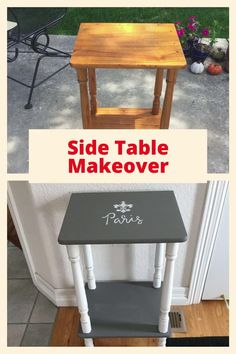 Do you ever wonder how to revamp, update, or makeover a side table? I have been dabbling in making over a few furniture pieces and when I saw this side table for $1 at a garage sale, I thought what have I got to lose! In this post I'm doing a side table makeover with painting, stenciling, and glazing.