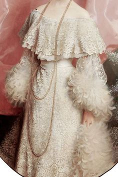 Detail of Yole Biaggini Moschini by Vittorio Matteo Corcos, 1904 Robes Vintage, Vintage Dresses, Vintage Outfits, Historical Costume, Historical Clothing, Edwardian Fashion, Vintage Fashion, Trendy Fashion, Fashion Art