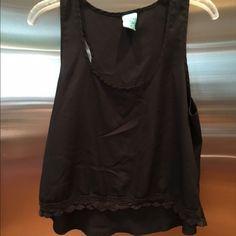 Black high low silk look blouse Black high low silk look blouse. Size medium Anthropologie Tops Blouses