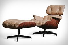"Charles Eames' original idea for his iconic lounger was to create a chair that resembled ""a well-used first baseman's mitt,"" and it was with that spirit in mind that the Herman Miller x 3Sixteen Eames Lounge Chair was born. This..."