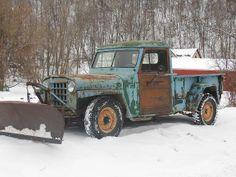 Jeep Pickup Truck, Vintage Pickup Trucks, Antique Trucks, 4x4 Trucks, Antique Cars, Lifted Trucks, Overland Truck, Military Jeep, Old Jeep