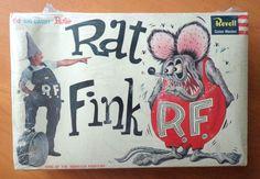 Revell Rat Fink model kit VTG 1963 Ed Big Daddy Roth hot rod NOS complete  #edroth #bigdaddyroth #ratfink #revell #vintage #modelkit
