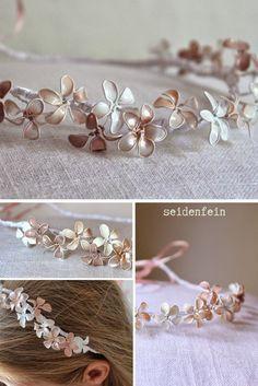 seidenfeins Blog vom schönen Landleben: Blütengirlande fürs Haar * DIY * Vintage bridal crown