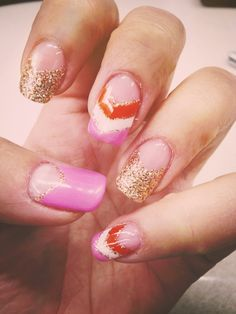 #pink #orange set #glitter for #newyears