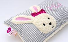 Kissen - Kuschelkissen ♥ Hase ♥ Hasenmädchen Wunschnamen - ein Designerstück von von-Eulen-und-Lerchen bei DaWanda