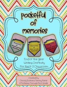 $3.00 Remember and record all the fun memories from Kindergarten, 1st, or 2nd Grade with this End of the Year writing craftivity!