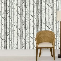 I love this wallpaper.  I want to do a wall in my room with it.  So interesting and once again. . .trees :-)