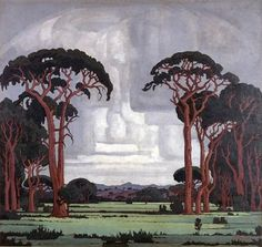 Pierneef - one day when I am big Strange Weather, African Paintings, South African Artists, Landscape Art, Landscape Paintings, Artist Art, Love Art, Art Images, Creative Art