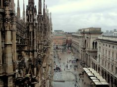 At the Duomo rooftop terrace in Milan.