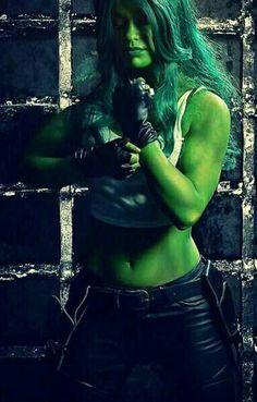Chyna in she hulk green bodypaint for avengers porn