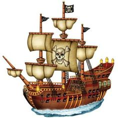 Beistle Company 136628 31 in. Jointed Pirate Ship