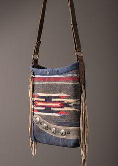 Chimayo + Suede Bucket Bag – J AUGUR DESIGN