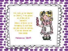 """Semana 7 VIERNES Versículo Diario - Somos Perdonados - Aceptando el perdón de Dios en nuestras vidas. """"Con todo yo me alegraré en Jehová y me gozaré en el Dios de mi Salvación, Jehová el Señor es mi fortaleza, Él cual hace mis pies como de ciervas, y en mis alturas me hace andar"""" Habacuc 3:18-19 SomosPerdonados #AmaaDiosGrandemente #ADGninos #DevocionalesparaNinos #EstudioBiblicoenLinea #ComunidadADG #LGG"""