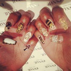 .@esnail_la   Egypt team nails ;) by @ahomiho_esnail ☆Price→esNAIL special $120.☆ #nail #es...