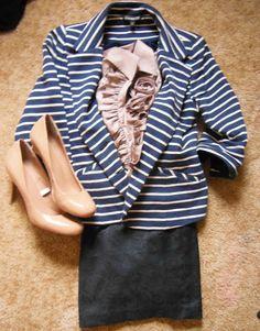 Nautical Blazer, Striped Blazer