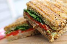 Roasted Red Pepper & Basil Panini ~ Skinny Mommy