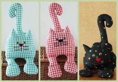 Puppen - Kuschel & Spiel/- Stoff Katzen - ein Designerstück von Svetik-Z…