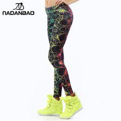 e7cefe0dd2bee NADANBAO wholelsales New Fashion Women leggings 3D Printed color legins Ray  fluorescence leggins pant legging for