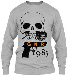 Gnr 1985 Sport Grey T-Shirt Front