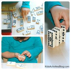 A collection of math activities your kids can do with dominos.