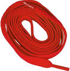 Шнурки плоские красные 130 см