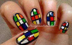 [ * ImaginationNAILart * ] Nail Art - Cubo di Rubik