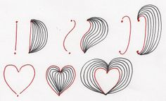 Simone illustrates several ways it's possible to connect two dots with straight and curved lines as shown in her illustration below.