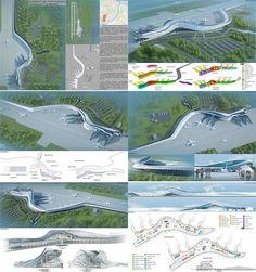 Airport Design, Landscape Architecture Design, New City, Airports, Futuristic, Transportation, Aviation, Presentation, Challenges