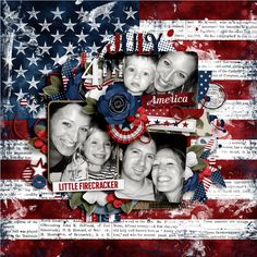 United We Stand Bundle by Libby Pritchett Brook's Templates - Trifecta 18 - Uber Lush by Brook Magee #digitalscrapbooking