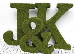 Moss-Covered Letters!