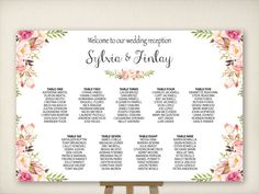 Wedding Seating Chart Table Seating Plan by VintageBellsAndCo
