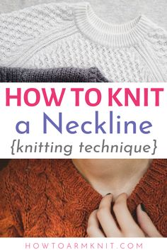 knitting techniques These knitting instructions fo - Knitting Help, Knitting Blogs, How To Start Knitting, Sweater Knitting Patterns, Knitting Designs, Knitting Stitches, Knit Sweaters, Knitting Tutorials, Knitting Projects