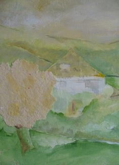 Hier is het dus. 30x40cm.                              Serie met handgemaakt papier, acryl op doek, door Tineke Hiem.