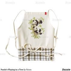 Panda's Playing in a Tree Zazzle HEART Apron  http://www.zazzle.com/pandas_playing_in_a_tree_zazzle_heart_apron-256577656770943089?rf=238588924226571373