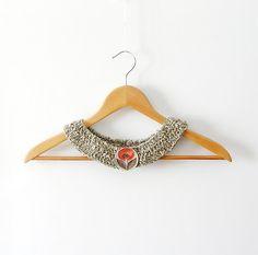 collar love <3 ------------- Grey Crochet Collar  Peter Pan  Detachable by callmemimi on Etsy, €25,00