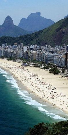 Nadire Atas on Beautiful Beaches To Visit Copacabana Beach, Rio De Janeiro , Brazil Places Around The World, Oh The Places You'll Go, Travel Around The World, Places To Travel, Places To Visit, Around The Worlds, Vacation Places, Copacabana Beach, Tenerife