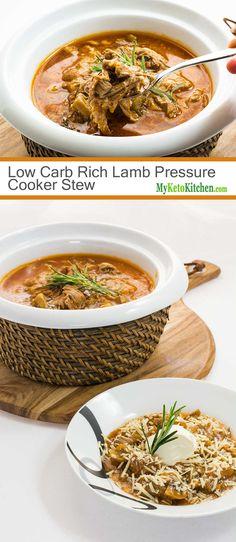 low carb rich lamb pressure cooker stew
