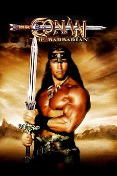 Arnold Schwarzenegger breakthrough film - Conan the Barbarian 1982 (poster) Film D'action, Film Serie, Best Action Movies, Great Movies, Action Films, Conan Der Zerstörer, Cinema Paradisio, Conan The Barbarian 1982, Conan Der Barbar