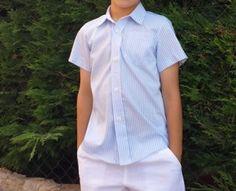 Camisa manga corta o larga para niño