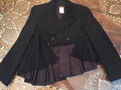 Comme des Garcons Asymetrical Cropped Black by MossandFernVintage