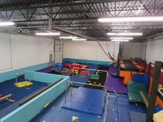 Gym Skills Stay and Play Open Gym Have fun using the gymnastic equipment, bounce house, obstacle course, and more during this weekly stay and play open gym. Offered Tuesdays, Wednesdays and Fridays. The gym is sectioned off for walking to 5 year olds, and then older kids in a different area.