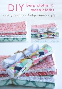 DIY Babies: CailaMade (make washcloth size for small cleanups/drool etc)