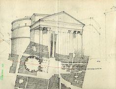 Travel Sketch: Pantheon, Rome, Chris Cornelius. 02_Italia Pantheon by chrisC2000, via Flickr