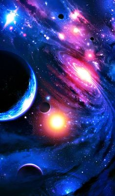 Galaxies, nebulas and planets ♥ I love outer space art! Planets Wallpaper, Wallpaper Space, Wallpaper Backgrounds, Nebula Wallpaper, Rainbow Wallpaper, Art Galaxie, Galaxy Art, Galaxy Space, Galaxy Planets