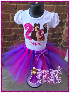 A personal favorite from my Etsy shop https://www.etsy.com/listing/512467431/masha-and-the-bear-tutu-set-masha